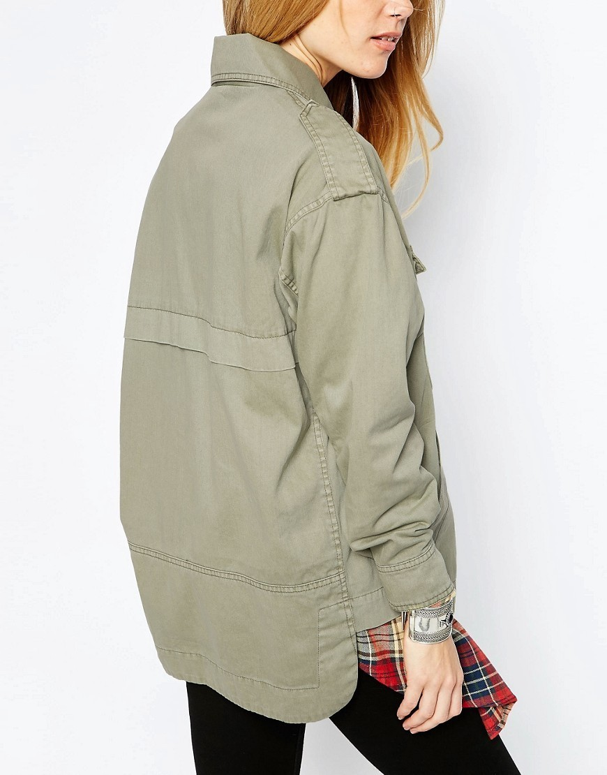 送料込 ASOS Washed Shacket