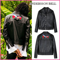 【ANDERSSON BELL】本革★BIRD EMBROIDERY LEATHER JACKET/追跡