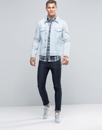 JackWills Shirt In RegularFit In Flannel Check In Blue/White