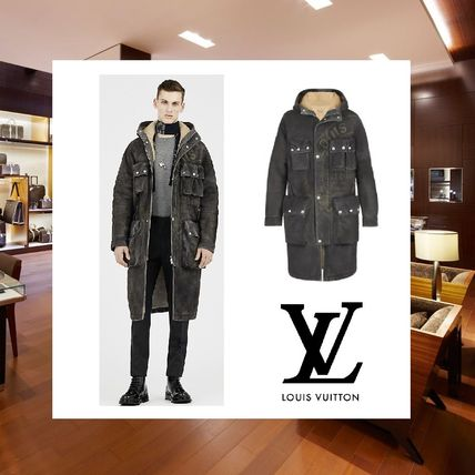 2016AW新作 Louis Vuitton ヴィンテージシャーリングパーカー