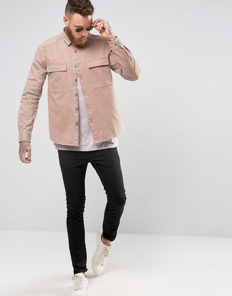 ASOS Military Overshirt In Pink