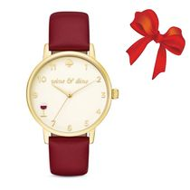 関税込☆Kate Spade 8 o'clock /Wine Metro Watch★セール