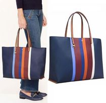 新作★セール!国内 Tory Burch KERRINGTON STRIPE SQUARE トート