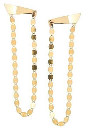 'Long Nude' Chandelier Earrings