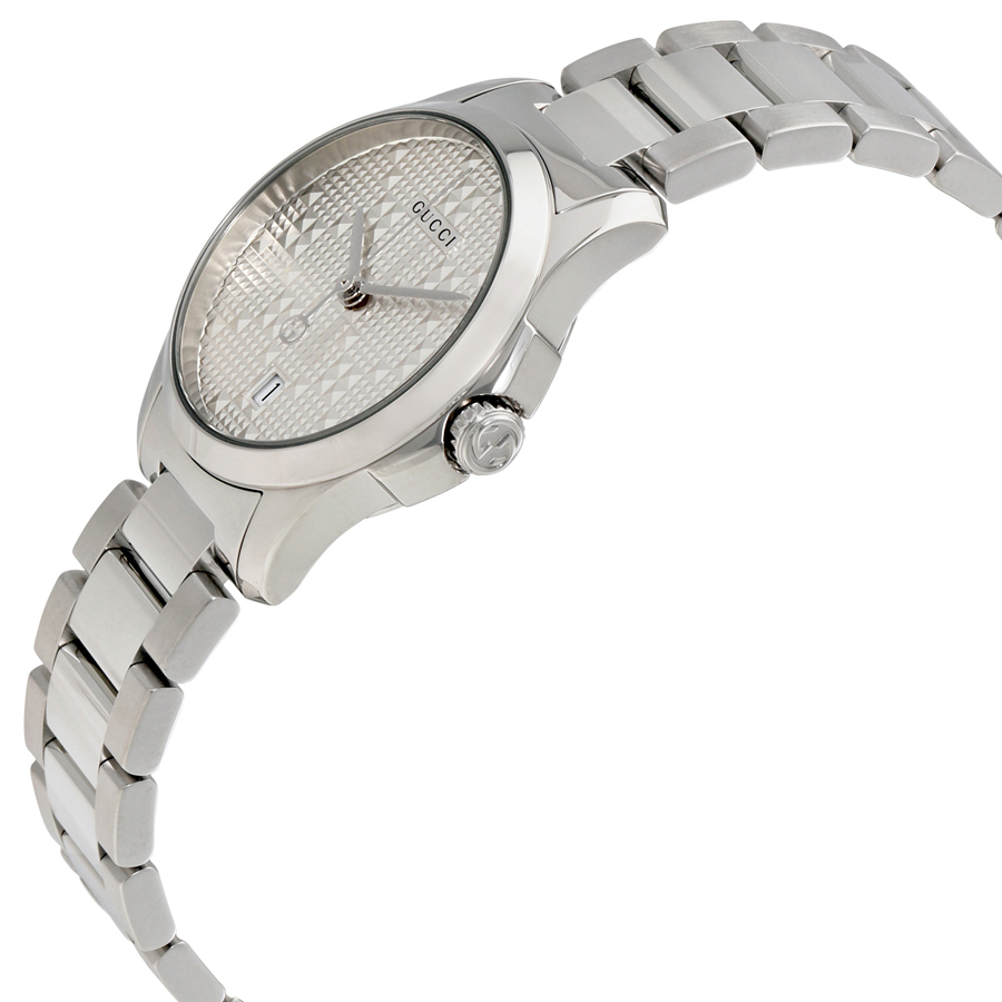 ★新作★GUCCI G Timeless Dial Silver Watch Ladies YA126551