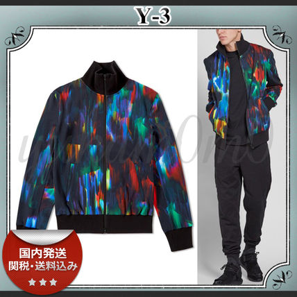16-17AW/送関込≪Y-3≫ CLASSIC AOP TOP プリント ブルゾン