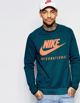 Nike International Crew Sweatshirt In Blue