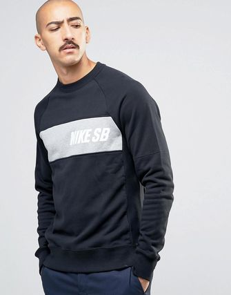 Nike SB Everett Crew Neck Sweat In Black 800145-010