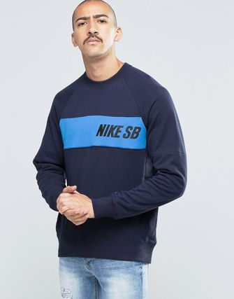 Nike SB Everett Crew Neck Sweat In Blue