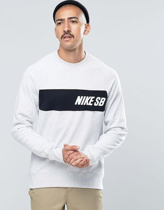 Nike SB Everett Crew Neck Sweat In White