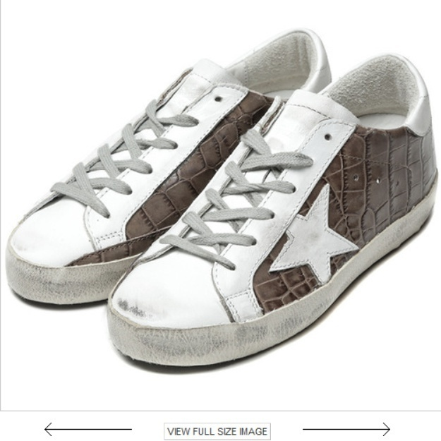 Golden Goose/正規品/EMS/送料込み16FW SUPERSTAR G29WS590 F48