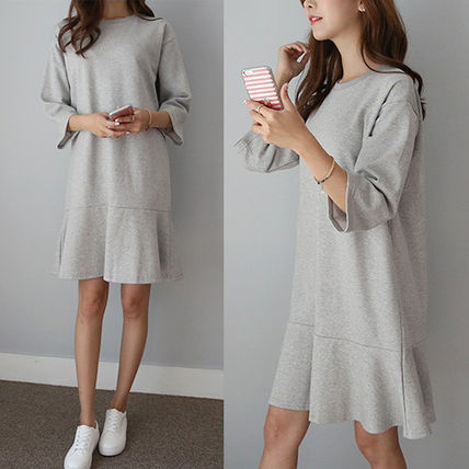 "RAF sweet ""hemline flare"" part 7 sleeve dress /"