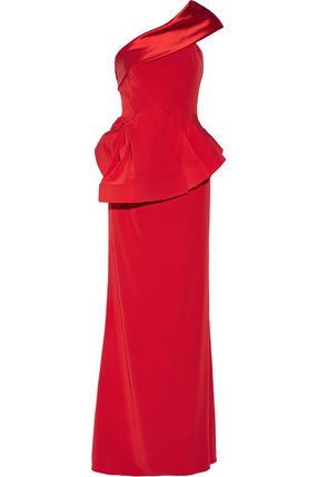 """""""MIKAEL AGHAL""""One shoulder satin cape"""