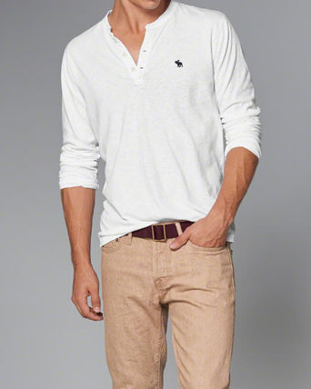 Abercrombie & Fitch Tシャツ・カットソー 本物保証!アバクロAbercrombie&Fitch長袖Tシャツc22(2)