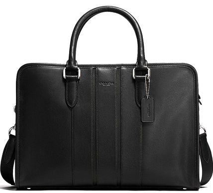 black on black COACH bond brief bag