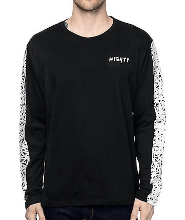 追尾/関税込 即発 Mighty Healthy Scribbles tee LS BLk