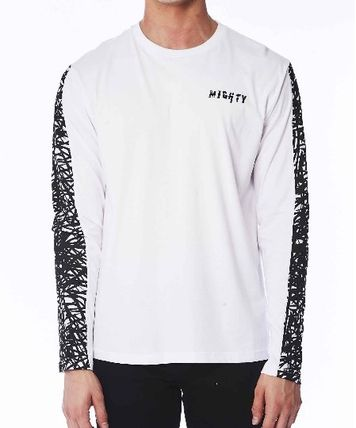 追尾/関税込 Mighty Healthy Scribbles tee LS White