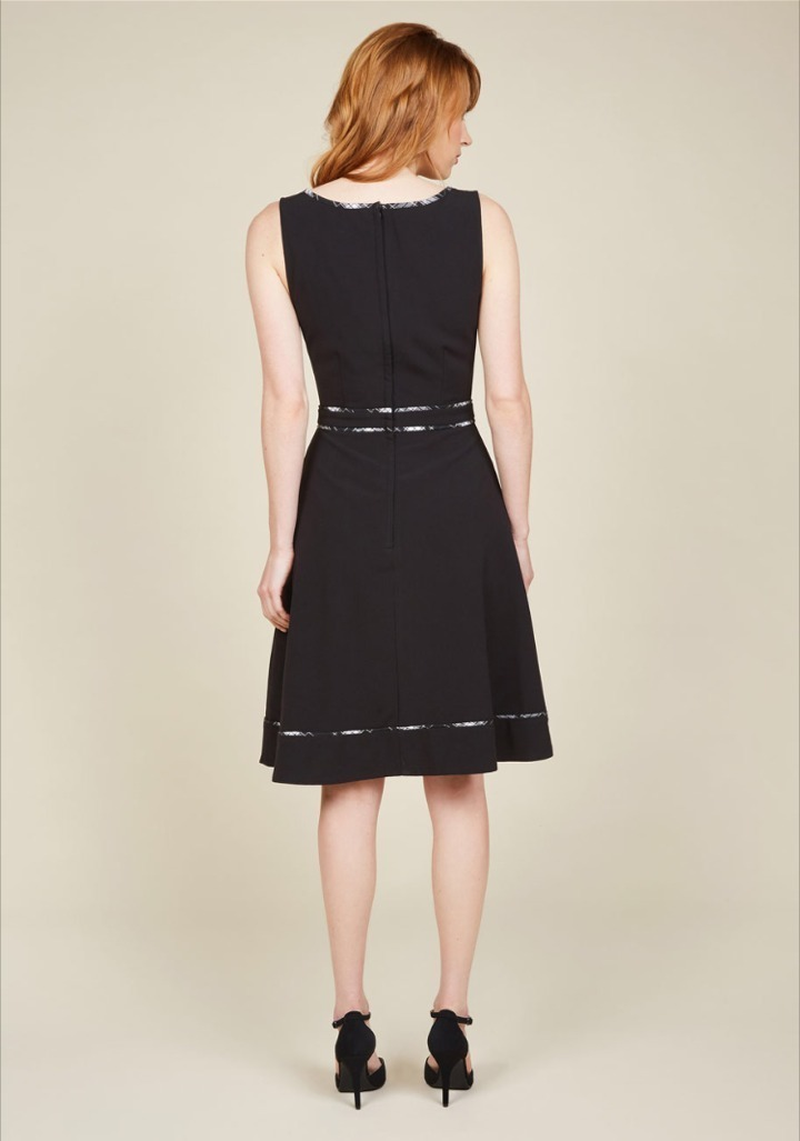 Modcloth★A Lot to Author Dress*チェックパイピングワンピ