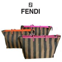 FENDI トートバッグ ROLL BAG ME LAMPO PEQUIN 8bh185 00q0z