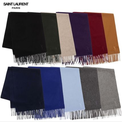 Present the YSL wool & cashmere blend scarf