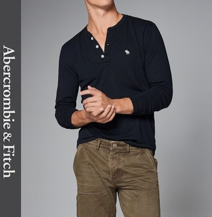 Abercrombie & Fitch Tシャツ・カットソー ★即発送★在庫あり★A&F★LONG SLEEVE ICON HENLEY★