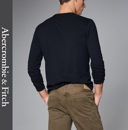Abercrombie & Fitch Tシャツ・カットソー ★即発送★在庫あり★A&F★LONG SLEEVE ICON HENLEY★(2)