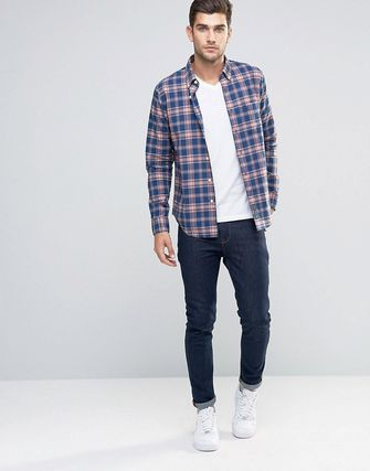 Abercrombie &Fitch Plaid Shirt Madras Navy