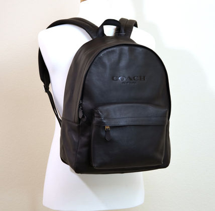 Coach バックパック・リュック  COACH CHARLES BACKPACK IN SPORT CALF LEATHER F54786 黒(3)