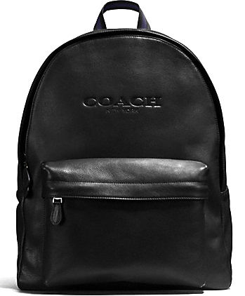 COACH CHARLES BACKPACK IN SPORT CALF LEATHER F54786 black