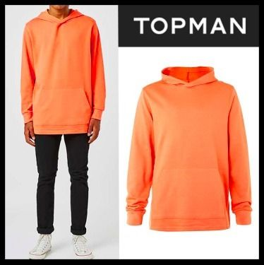 関税&送込!! TOPMAN Orange Fixed Hem Oversized Hoodie