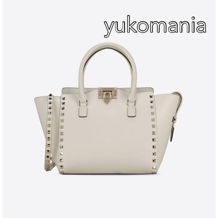 VALENTINO rock studded small double handle bag