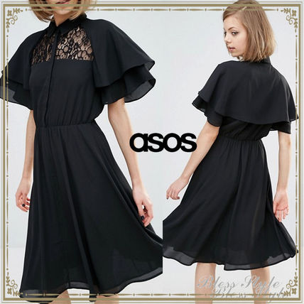 *ASOS*Lost Ink★可憐♪ケープスリーブ シャツワンピース