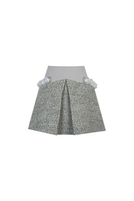 MilinのスカートAddress Skirt (Gray, New US0,US2,US4)