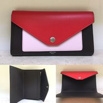 ★NEW! 16/17AW★【CELINE】POCKET TRIFOLDED WALLET (Chili)