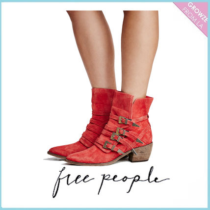 Free People backless Ed short boots