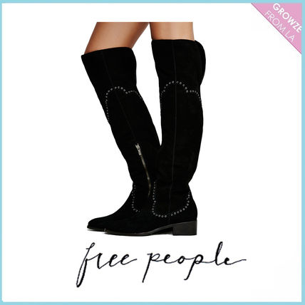 Free People boots Cara Eyelet Over The Knee Boot