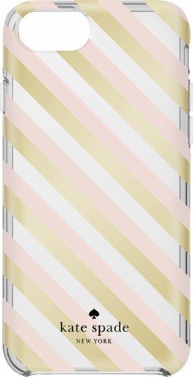 【国内発送】kate spade★新作!Diagonal Stripe iPhone7 case