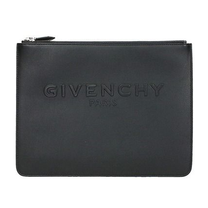 16-17AW 【GIVENCHY】 ジバンシィ エンボスロゴ クラッチバッグ