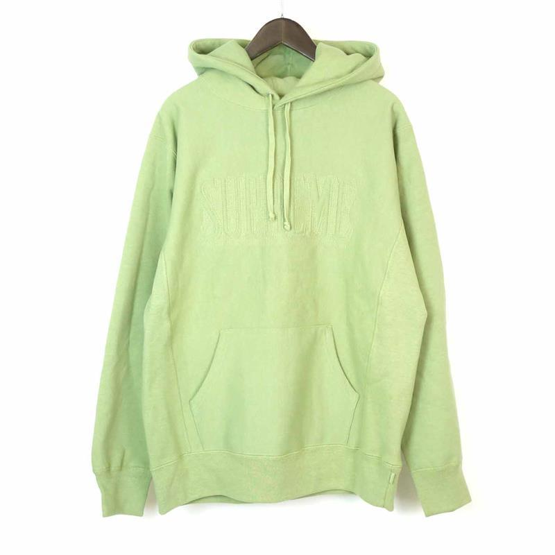 Supreme FW16 Embroidered Outline Hooded Sweatshirt 緑 (SAGE)