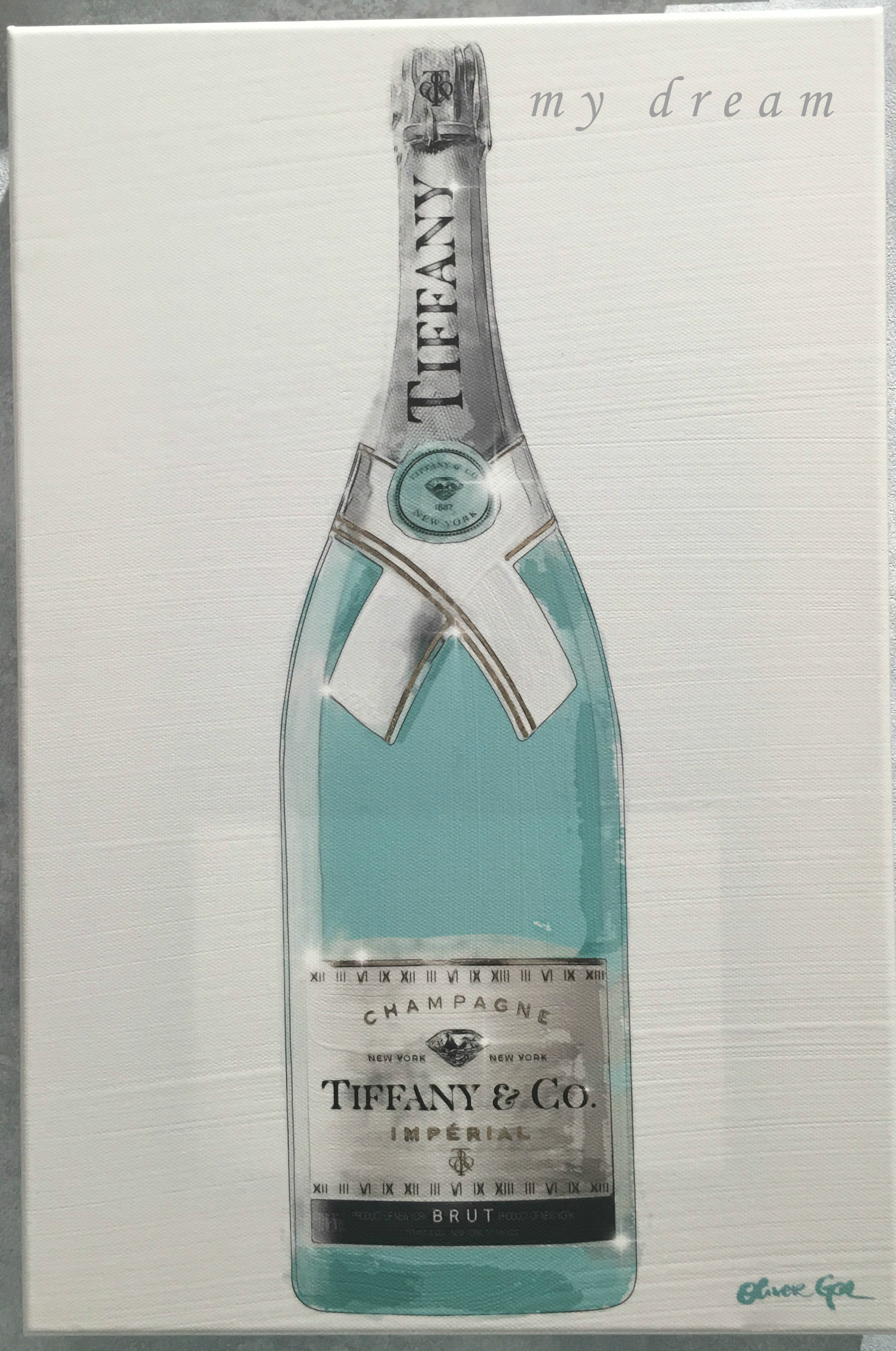 Oliver Gal 'Priceless Champagne' Tiffanyモチーフ(4サイズ)