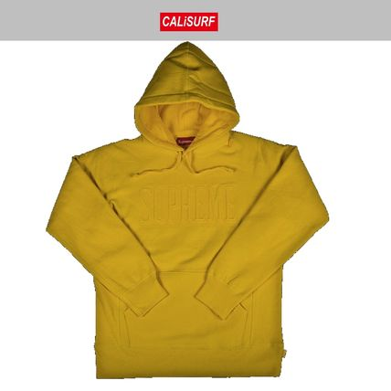 Mサイズ FW2016 SUPREME EMBROIDERED OUTLINE HOODED SWEATSHIRT