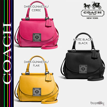 COACH★DRIFTER TOP HANDLE SATCHEL IN MIXED LEATHER 38388