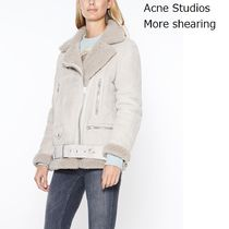 ACNE More Shearling Suede beige ラムシーリングジャケット
