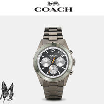 ☆ COACH ☆ SULLIVAN sport ionized plated bracelet watch