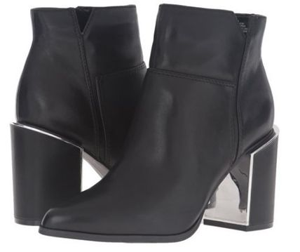 完売間近SALE☆NINE WEST☆ Kaylese Leather Ankle Bootie