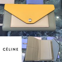 ★NEW! 16/17AW★【CELINE】POCKET TRIFOLDED WALLET (Corn)