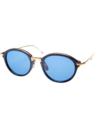 THOM BROWNE Thom TB-011-F sunglasses NAVY GOLD