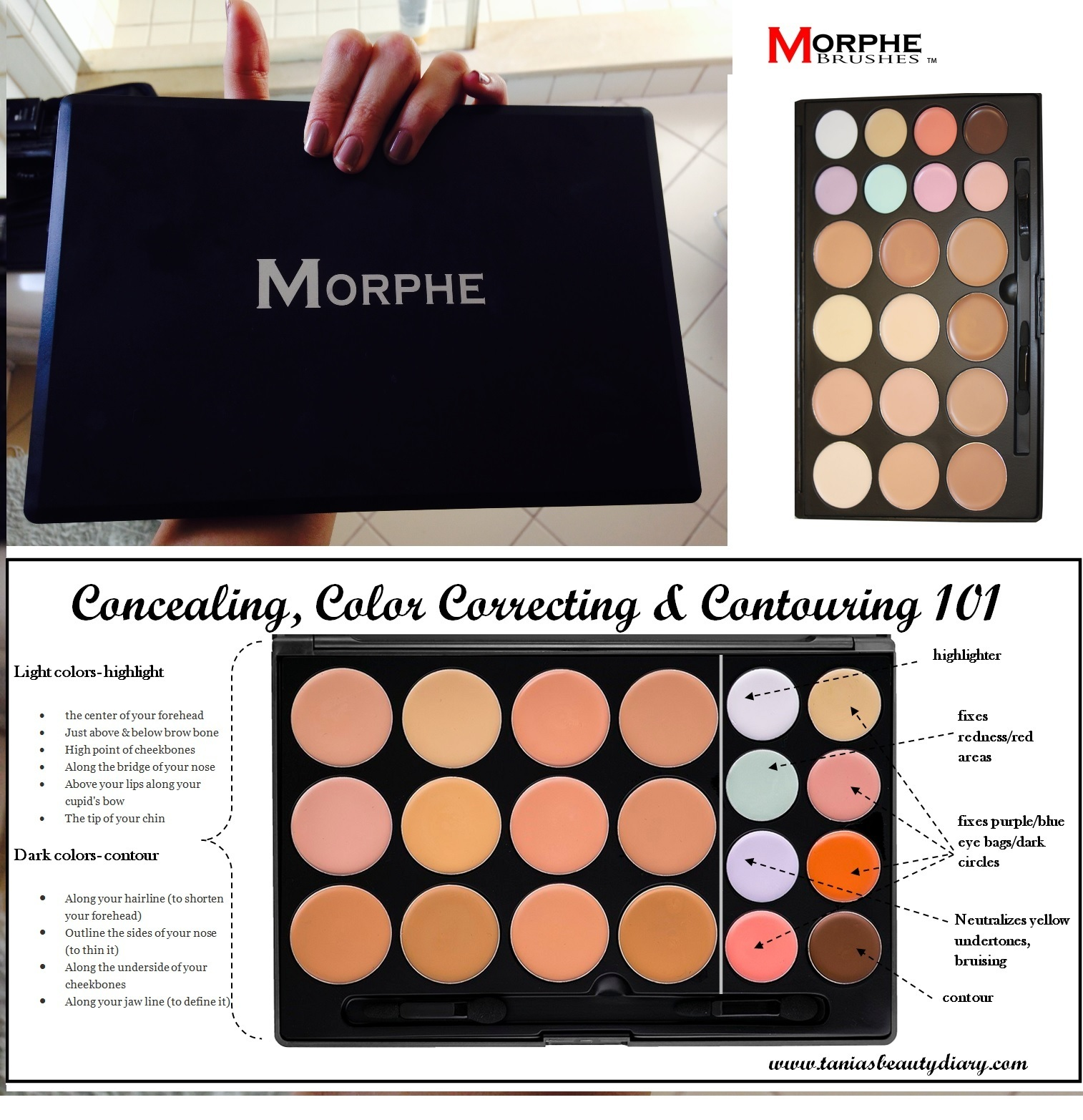 ★Morphe Brushes★20CON - 20 COLOR CONTOUR/CONCEALER PALETTE