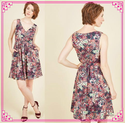 Modcloth★Grove for the Fences Dress*小花柄ワンピース