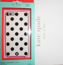 即発【kate spade】Le Pavillion Resin iPhone 6,6sケース 水玉